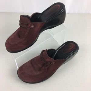 Clarks Split Apron Toe Slip On Clog Mule Shoe 9M